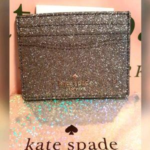 💋NWT KATE SPADE SLIM SPARKLE CARD HOLDER